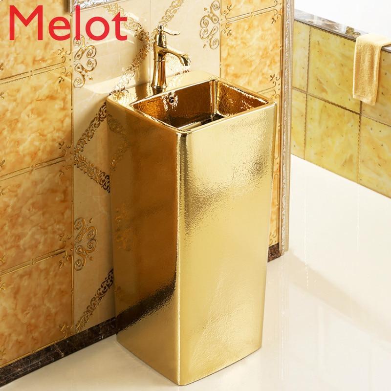 Column-Basin Basin-Relief Toilet-Gold European-Style Gold-Floor Individual-Color