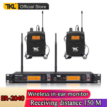 TKL ER-2040 dual channel stereo professional stage in-ear monitoring UHF digital wireless in-ear monitoring system