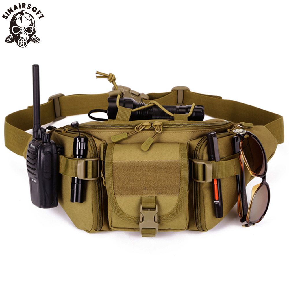 Tactical Waist Bag Waterproof Fanny Pack Hiking Fishing Sports Hunting Bags Outdoor Camping Sport Molle Army