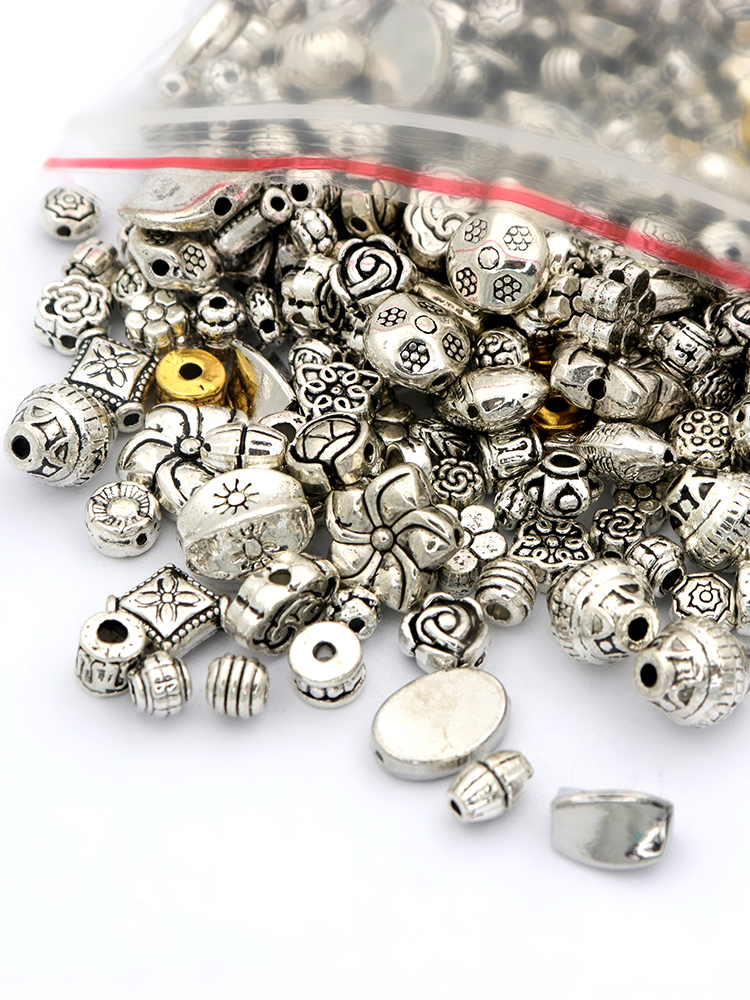 10 TIBETAN SILVER SKULL SPACER BEADS Charm FINDING COOL