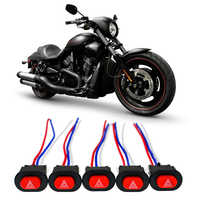 New Motorcycle Hazard Light Switch Double Warning Flasher Emergency Signal with 3 Wires Lock