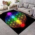 Постельные принадлежности Outlet чакра ковры для гостиной дзен тема прямоугольник области коврики красочные tapis цветок жизни геометрический ...