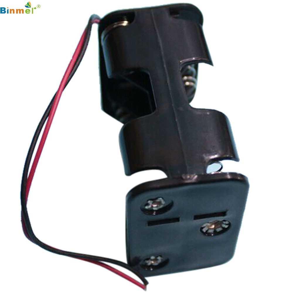 ¡Oferta! 18650 diy caja de alimentación, caja de soporte para batería 18650, caja de circuito 6 AA 2A batería 9V, caja de soporte con Clip DIY con cables de alambre negro