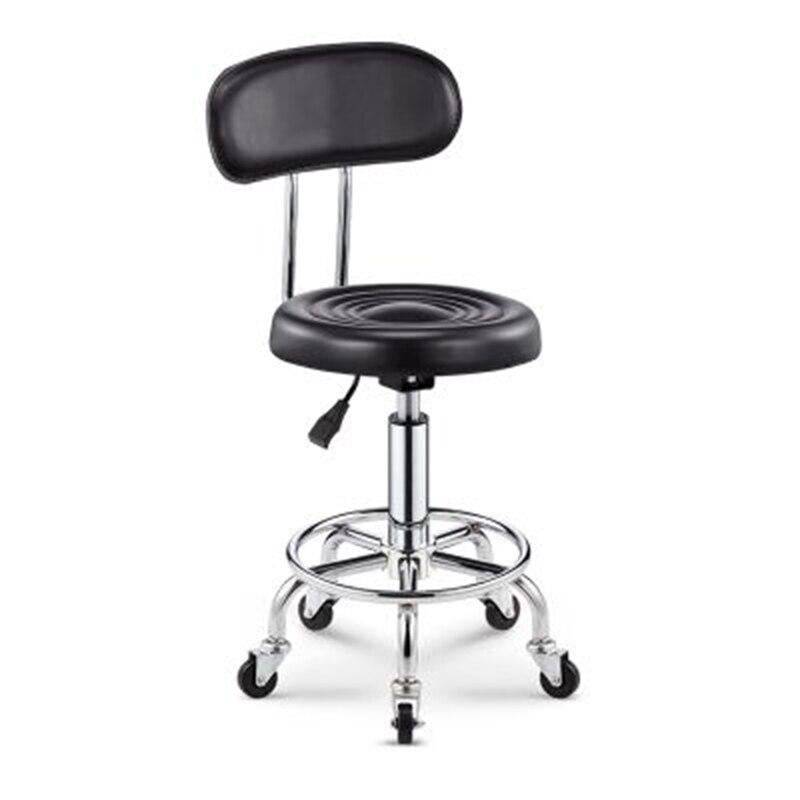 2018 Adjustable Barber Chairs Hydraulic Rolling Swivel Stool Chair Salon Spa Bar Cafe Tattoo Facial Massage Salon Furniture