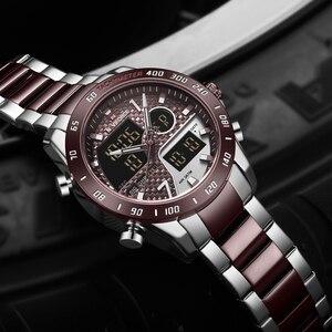 Image 3 - NAVIFORCE นาฬิกาผู้ชายแบรนด์หรูกีฬา Quartz LED Dual Display ชายนาฬิกาทหารกันน้ำนาฬิกาข้อมือเหล็กเต็มรูปแบบใหม่