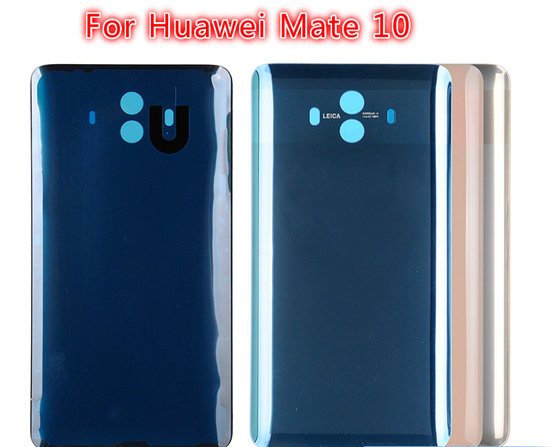 10PCS 100% Brand new For Huawei Mate 10 Back Battery Cover Door Housing Case Real Glass Part +Repair tools