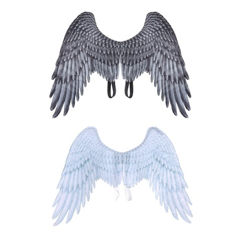 Halloween Decoration 3D Angel Wings Non-Woven Fabric Halloween Theme Party Cosplay Costume Accessories For Adults image