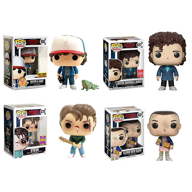 Funko POP Stranger things Eleven Dustin Hopper Joyce Byers Vinyl Action Figure Dolls Toys For Birthday Gifts