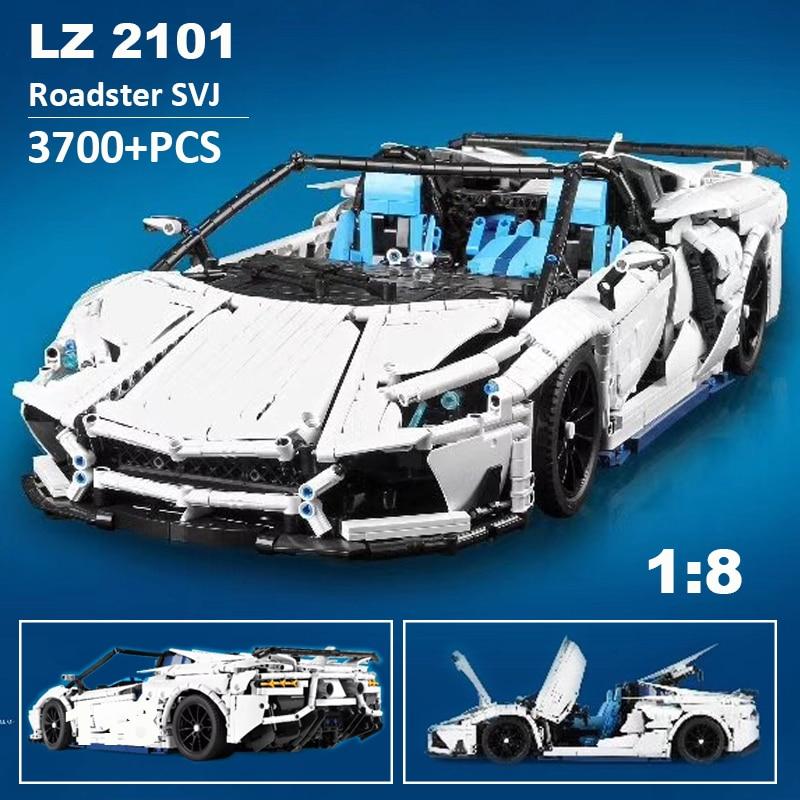 Lepinblock voiture de course technique MOC-17698 Super Sport voiture Supercar bloc de construction briques enfant jouets cadeaux de noël