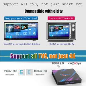 Image 4 - TV BOX H96MAX Android 9.0 Smart TV BOX Rockchip RK3318 4GB+32GB H.265 4K Google media player H96 MAX Set Top Box PK X96 hk1 max