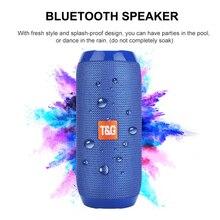 Portable Bluetooth Speaker Wireless Column Speaker Waterproof outdoor Soundbar Bass Stereo with FM Radio AUX TF Music Player