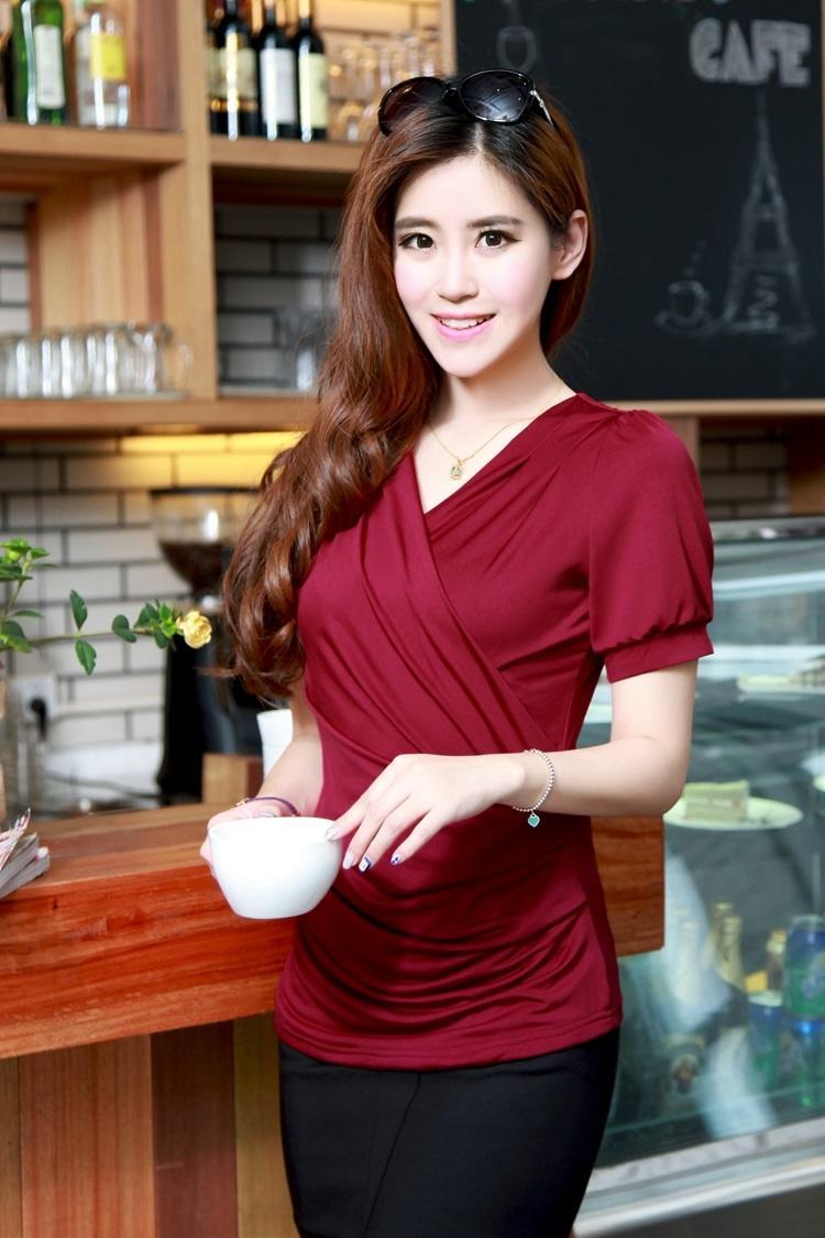Fashion Logo Printing Brown T Shirts Women's Short Sleeve  Fashion 100% Cotton Female T-Shirts