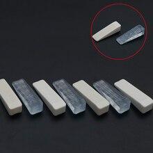 4 unids/pack 64*18*14mm Tope de puerta de goma bloque de cuña Tope de puerta transparente tapón de puerta blanca para el hogar uso Oficina