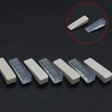 4 sztuk/paczka 64*18*14mm odbojnik gumowy korki zablokuj klinowe drzwiczki jasne białe drzwi odbojnik na użytkowanie w domu