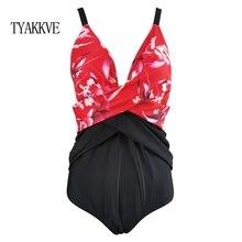 TYAKKVE 2020 Sexy New One Piece Swimsuit Plus Size Swimwear Women Slimming Bathing Suit Print Beachwear Backless Swim Wear XXL