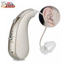 Audífono Digital recargable, audifonos Invisible para sordera pérdida grave, audífonos BTE, amplificador de alta potencia, amplificador de sonido, 1 unidad para ancianos sordos