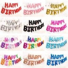 Wispun 16 Inch HAPPY BIRTHDAY Foil Balloons Happy Birthday Party Decoration Kids Alphabet Air Baby Shower Supplies