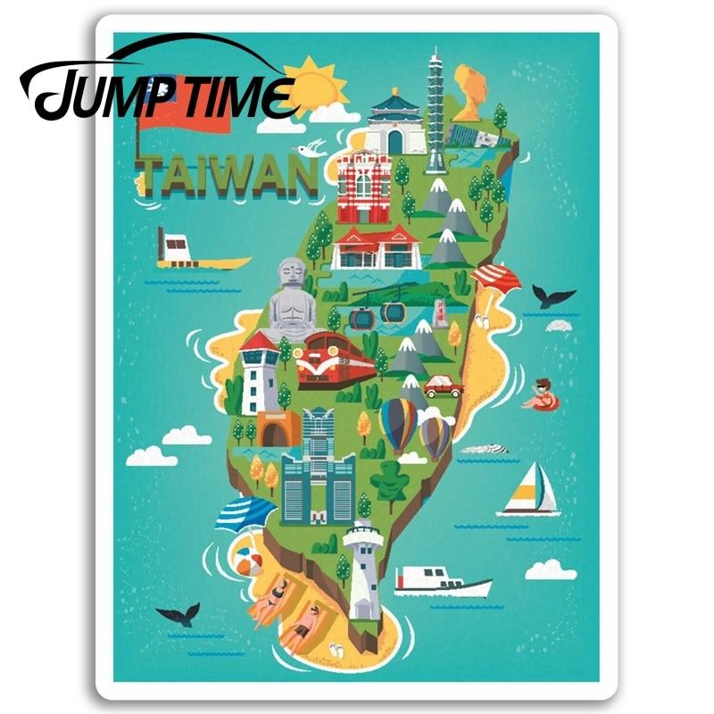 Jump Time for Taiwan Vinyl Stickers Taipei Fun Travel Sticker Laptop Luggage Truck Window Bumper Decal Waterproof Accessories(China)