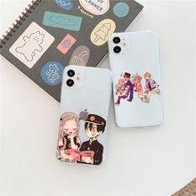 Jibaku shounen hanako kun toalete-bound hanako-kun silicone caso de telefone para iphone 12 11 pro max x xr xs 8 7 6 plus mini capa