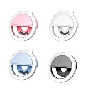 Fill-Light-Lamp Flash-Lens Photo-Camera Cell-Phone Selfie-Ring Portable-Clip Leds Beauty