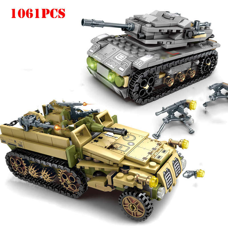 Technic World War Tank Panzer Vehicle Building Blocks Compatible Legoed Military Army Figures Weapons Bricks Toys For Kids Gifts