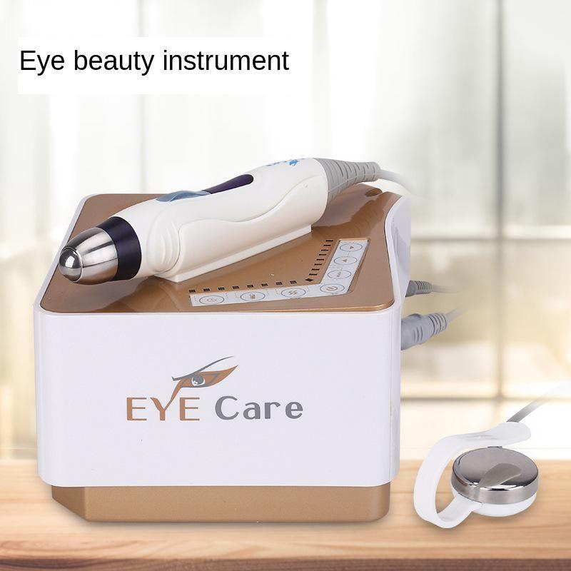 Rf ferramentas de cuidados com os olhos vibração elétrica massagem dispositivo beleza ems íon introdução aquecida massageador rugas remover o rejuvenescimento da pele