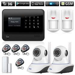 3G 4G Wifi GSM GPRS SMS Alarm bezpieczeństwa bezprzewodowy dom bezpieczeństwa System wykrywania włamań Wifi kamera IP
