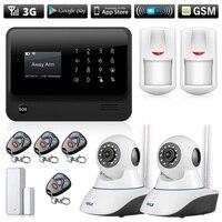 G90B Plus 3G 4G Wifi GSM GPRS SMS Security Alarm Wireless House Security Intruder Alarm System Wifi IP Camera