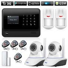 Sistema de alarme de segurança residencial, 3g 4g wi fi gsm gprs sms câmera de vigilância residencial sem fio