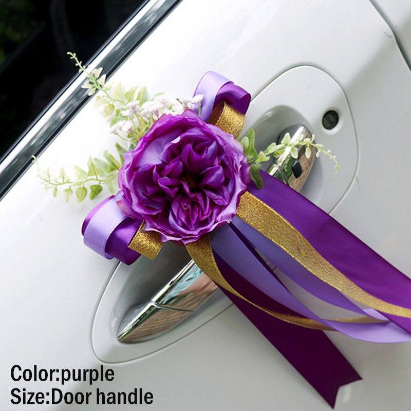 Hot Promo 51c27 , Wedding Car Decoration Flower Door