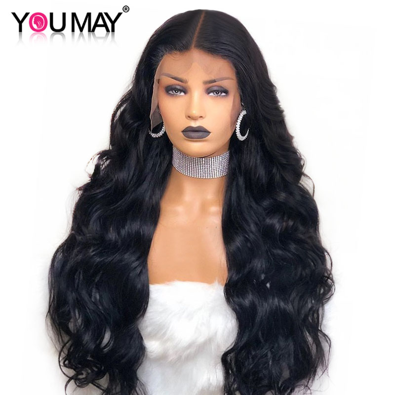 250 Density Pre Plucked Full Lace Human Hair Wigs With Baby Hair Glueless Peruvian Body Wave Full Lace Wigs You May Remy Hair