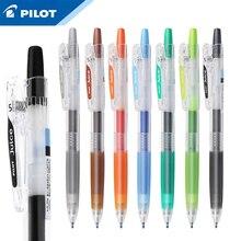 1 pçs série piloto suco cor gel caneta LJU 10EF 0.5mm 24 cores opcionais estudantes de grande capacidade fazer mão conta cor gel caneta