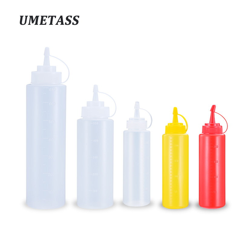 1PCS Empty Squeezable Condiment Bottle With Twist On Cap For Olive Oil,Salad,cream,Honey Eco-Friendly Plastic Container
