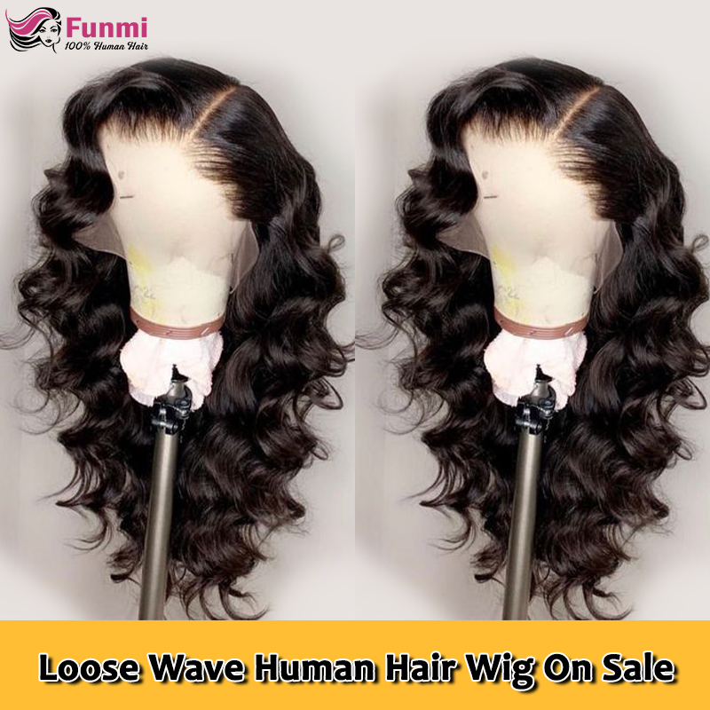 Funmi Hair Loose Wave Wig Lace Front Human Hair Wigs Pre Plucked Remy Free Part Hair PrePlucked Brazilian 13x4 Lace Frontal Wig