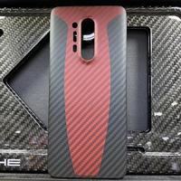 Karbon fiber tampon arka kapak için OnePlus 7 8 pro orijinal aksesuarlar karbon kabuk