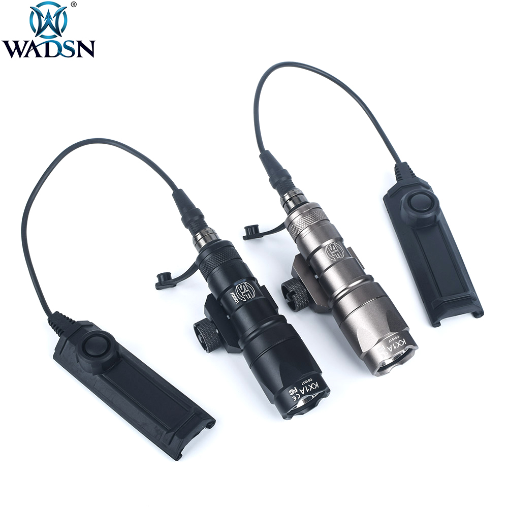 WADSN Airsoft Surefir M300 M300B Mini Scout Weapon Torch Tactical Outdoor Hunting Rifle Light With Dual Function Tape Switch