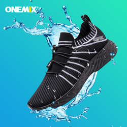ONEMIX 2020 NEW design Waterproof Breathable Training Sneakers Running Shoes Male Outdoor Anti-Slip Trekking Sports Shoes