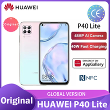 Глобальная версия Huawei P40 lite/lite E 6 + 128 ГБ NFC Смартфон 48MP AI камеры 6,4 ''FHD Kirin810 Octa Core 40 Вт QC смартфоны