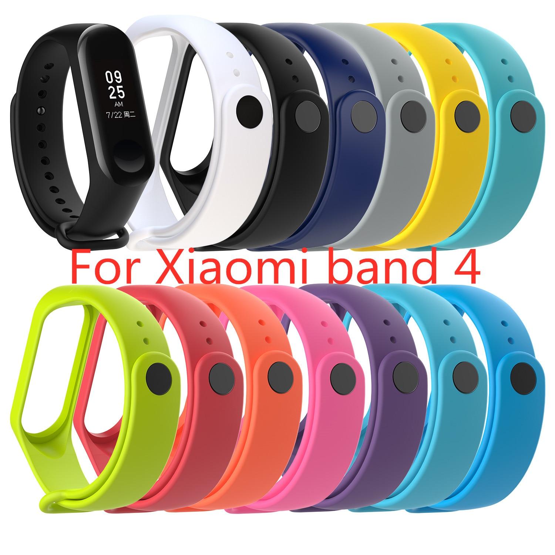 For Sport Mi Band 4 Wrist Strap For Xiaomi Mi Band 4 TPU Bracelet For Xiaomi Band 4 Wrist Strap Pure Color Replacement Accessory