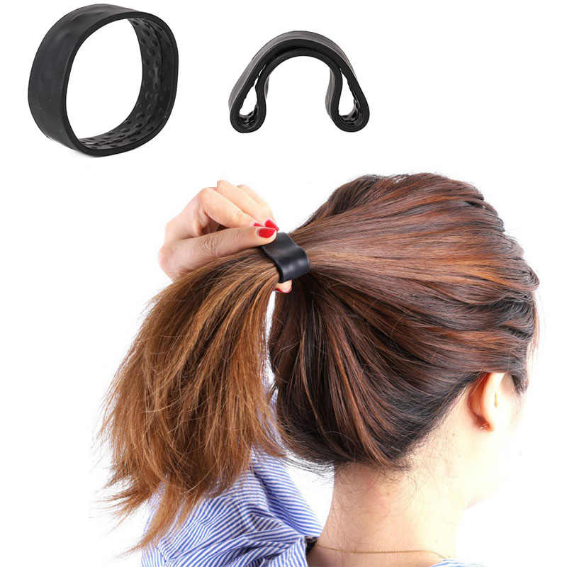 Women Styling Silicone Hair Ring Hair Finishing Fixed Hair Female Care Fixed Messy Hair Scrunchie Hair Band