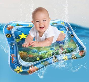 Infants Water Mat Summer Beach Mat Safety Cushion Ice Mat Early Education Toys Toddler Cooling mattress water mat for babies image