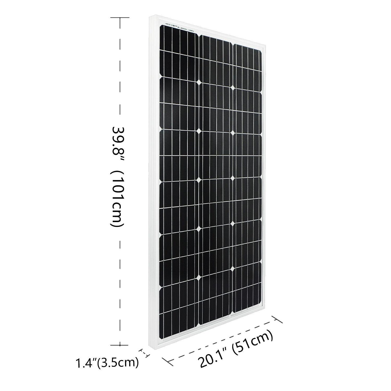 Système solaire ECOworthy 300 W: 3 pièces panneau d'alimentation solaire mono 100W et contrôleur 60A & 5m câbles noirs rouges Y MC4 charge pour batterie 12V-in Systèmes d'énergie solaire from Electronique    2