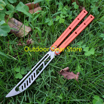 Theone Bushing System Butterfly Kraken Sea Monster Channel Aluminum Handle Hunting Trainer Knife Tactical Hunting  Edc Knife 3