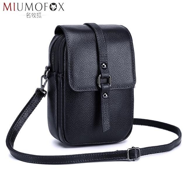 Fashion Mobile Phone Bag Small Clutches Shoulder Bag Genuine Leather Women Mini Handbag High Quality Purse Flap Cross body Bags
