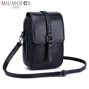 Image 1 - Moda torba na telefon komórkowy małe sprzęgła torba na ramię prawdziwej skóry kobiet mini torebka wysokiej jakości torebka Flap torby piersiowe