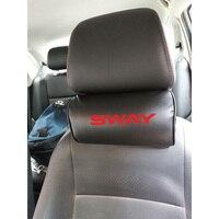 Auto Hals Kissen für Nissan Sway Pu Leder Auto Auto Neck Rest Kopfstütze Kissen Kissen Autos Innen Zubehör