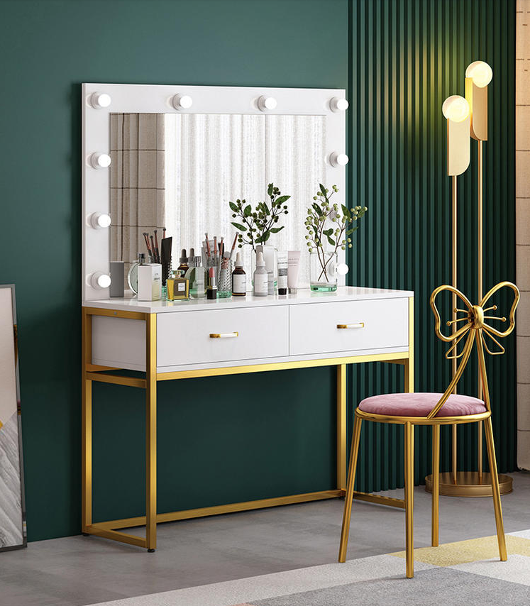 Light luxury studio dressing table with lamp training school dressing table barber shop wedding beauty salon dressing table