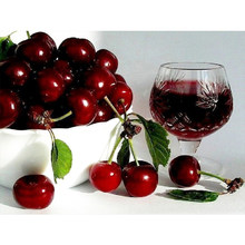 5D DIY Diamond Painting Full round/square Drill Mosaic Diamond Cross Stitch Fruit Cherry 3D Embroidery kitchen decoration M305(China)