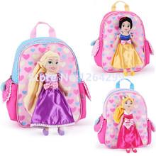 Nowe mody zaplątani królewna śnieżka śpiąca królewna księżniczka dziewczęta studenci przedszkole szkolne torby plecak dla dzieci dla dzieci tanie tanio Izagic Poliester zipper Backpack 29cm Cartoon Dziewczyny 19cm 23cm Torby szkolne