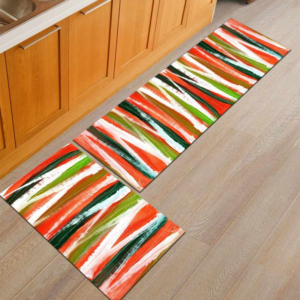 Yianshu ヨーロッパキッチンマット浴室ドアマット寝室のベッドサイド毛布スーパーソフトカーペット機械を洗浄することができ